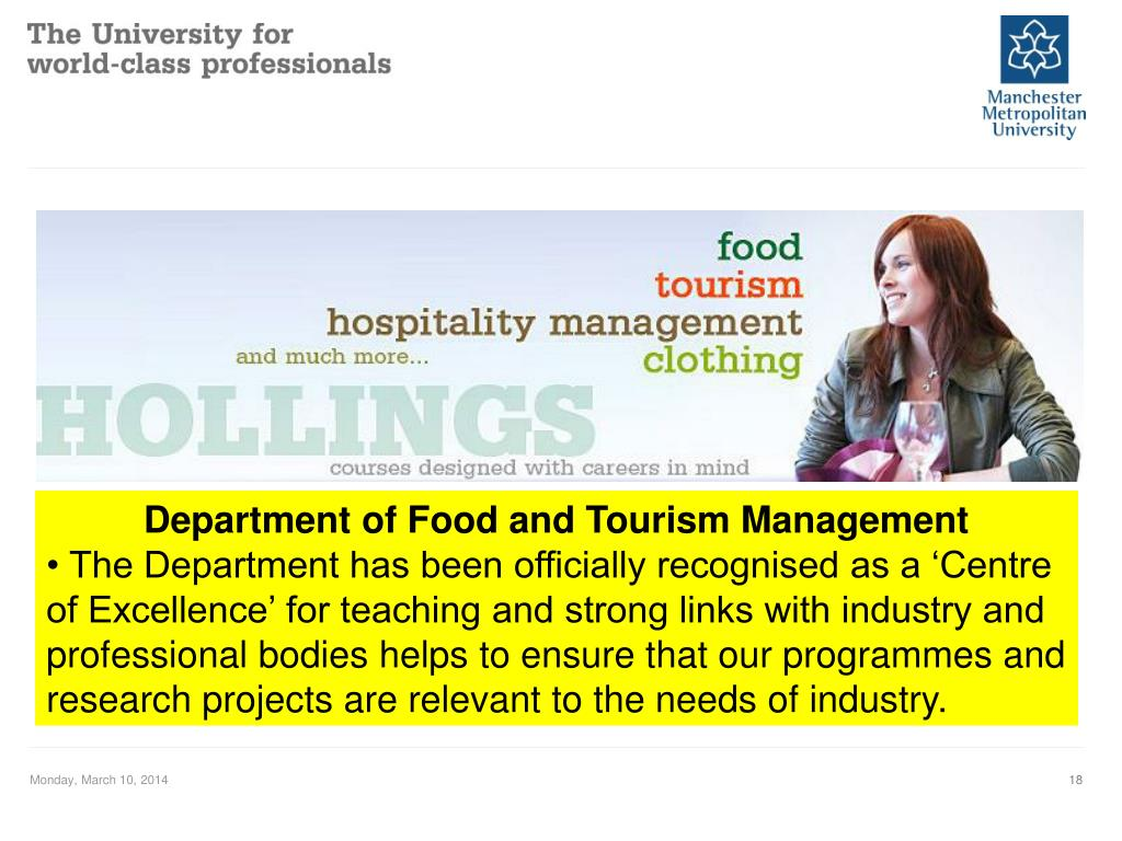 Department of Food and Tourism Management