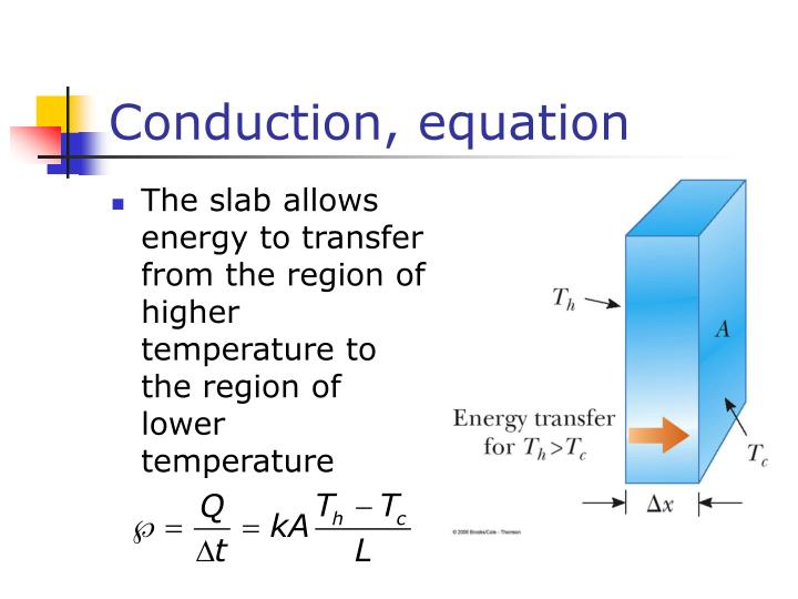 Conduction, equation