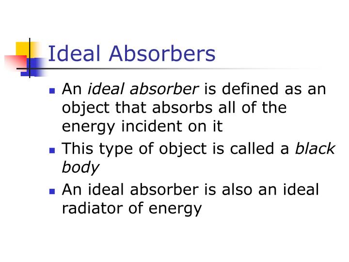 Ideal Absorbers