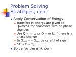 problem solving strategies cont