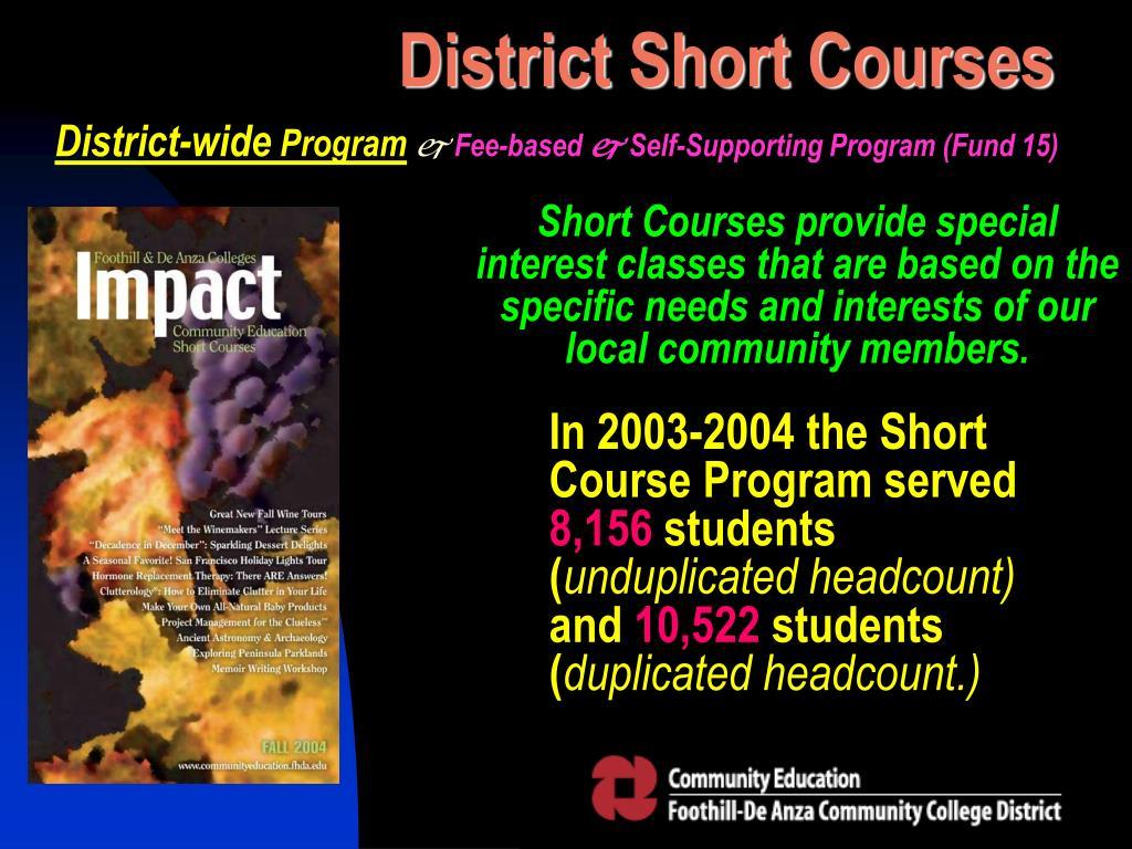 District Short Courses