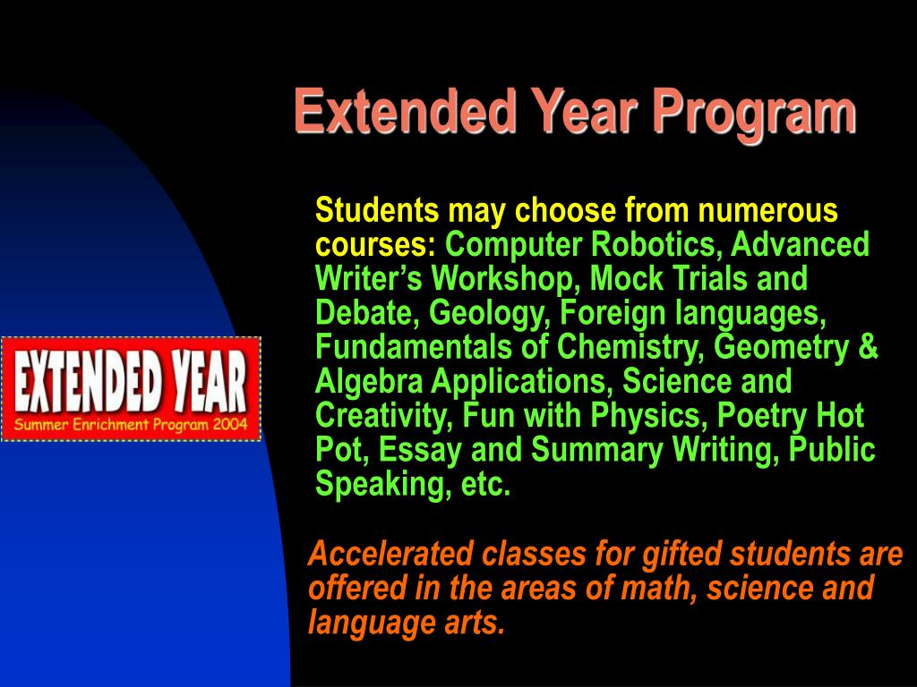 Extended Year Program