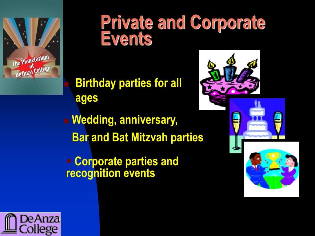 Private and Corporate Events