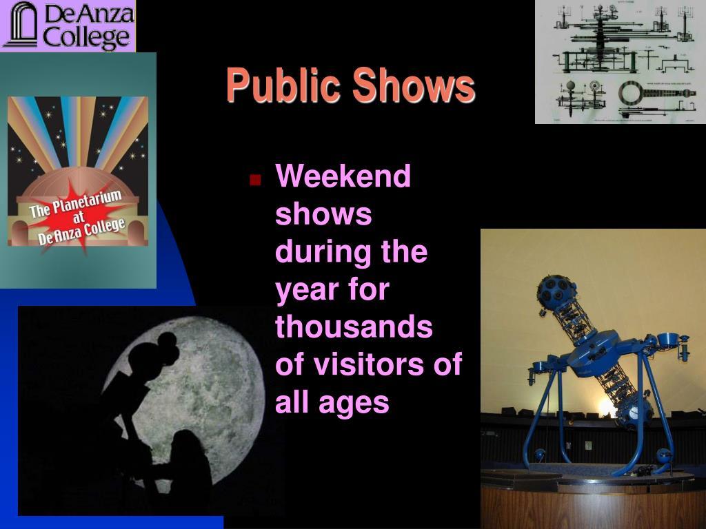 Public Shows