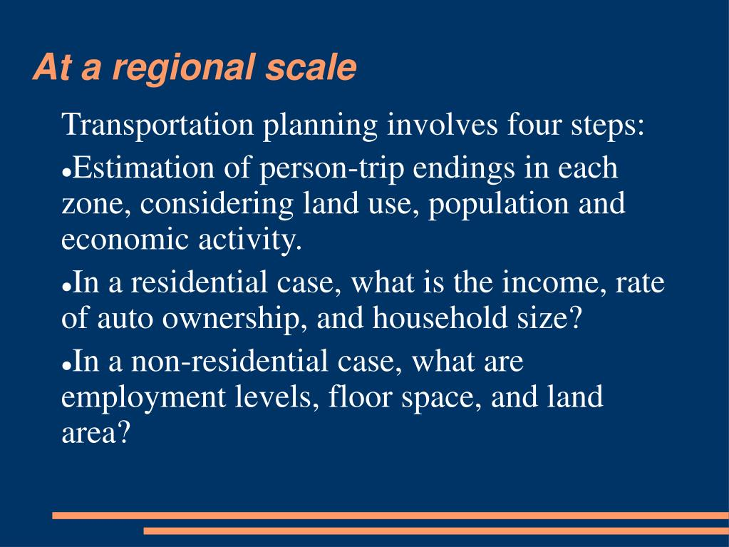 At a regional scale