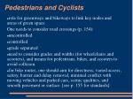 pedestrians and cyclists18