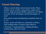 transit planning