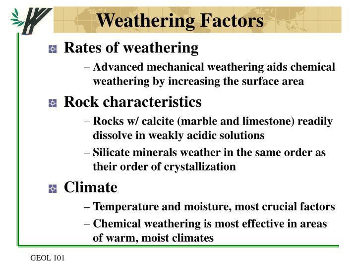 Weathering Factors