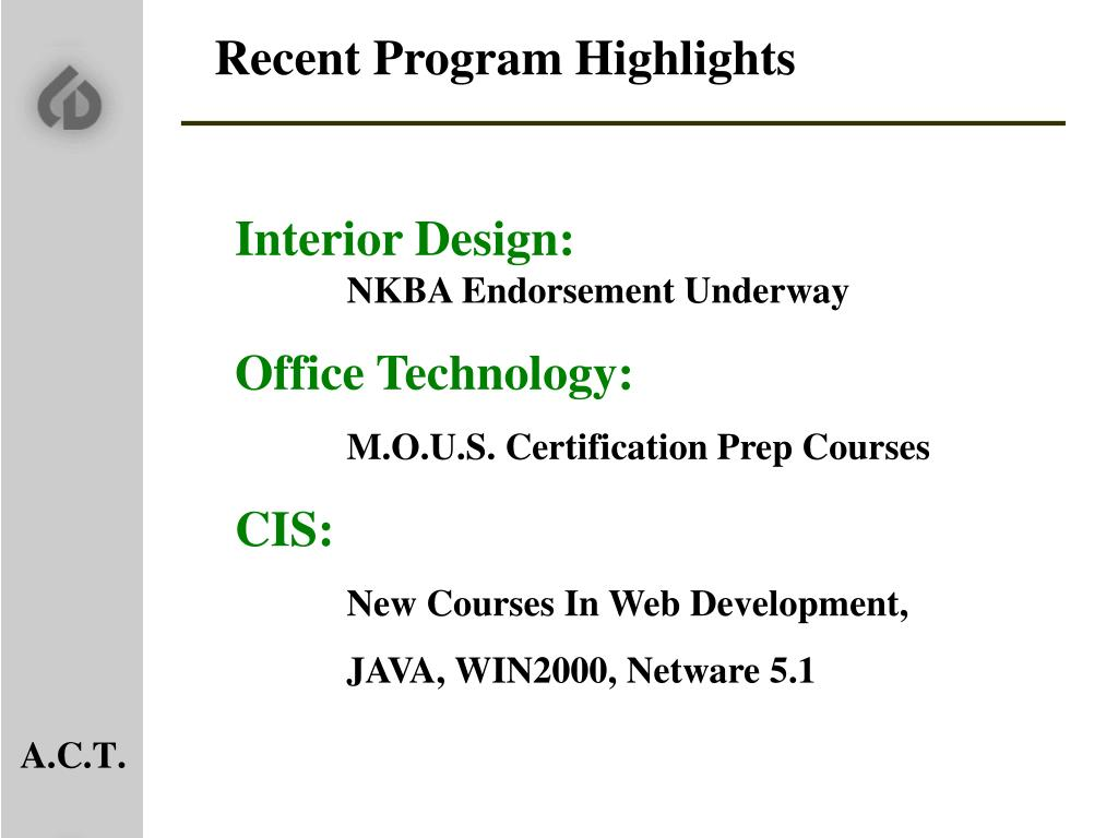 Recent Program Highlights