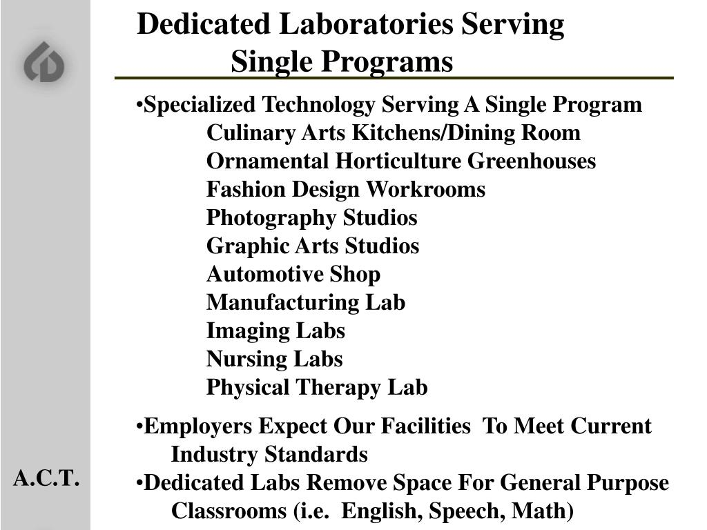 Dedicated Laboratories Serving