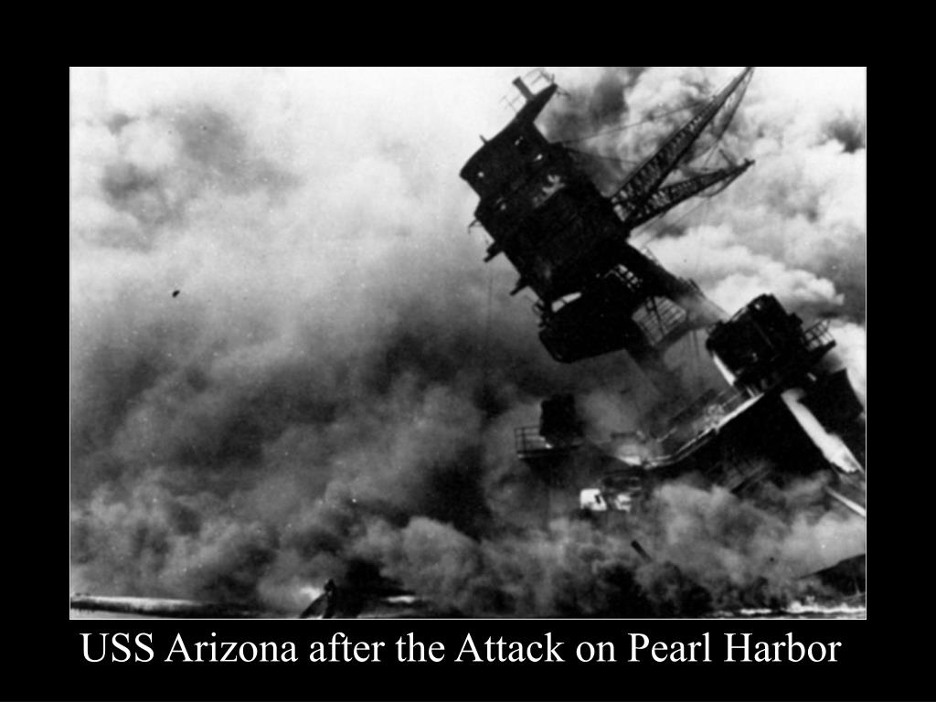 USS Arizona after the Attack on Pearl Harbor