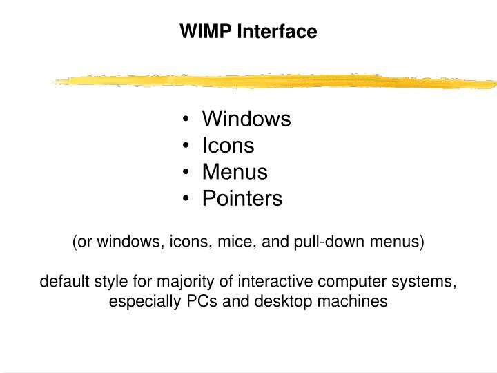 WIMP Interface