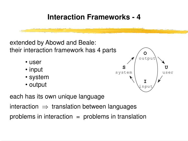 Interaction Frameworks - 4