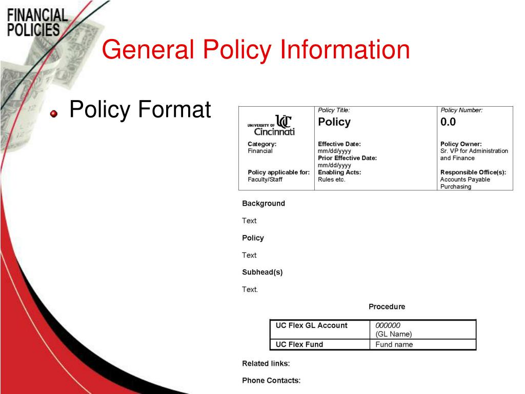 General Policy Information