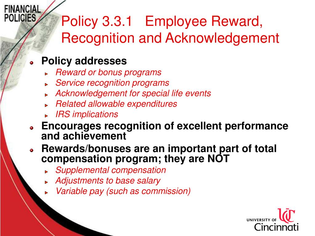 Policy 3.3.1   Employee Reward, Recognition and Acknowledgement