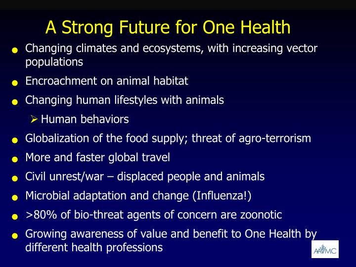 A Strong Future for One Health