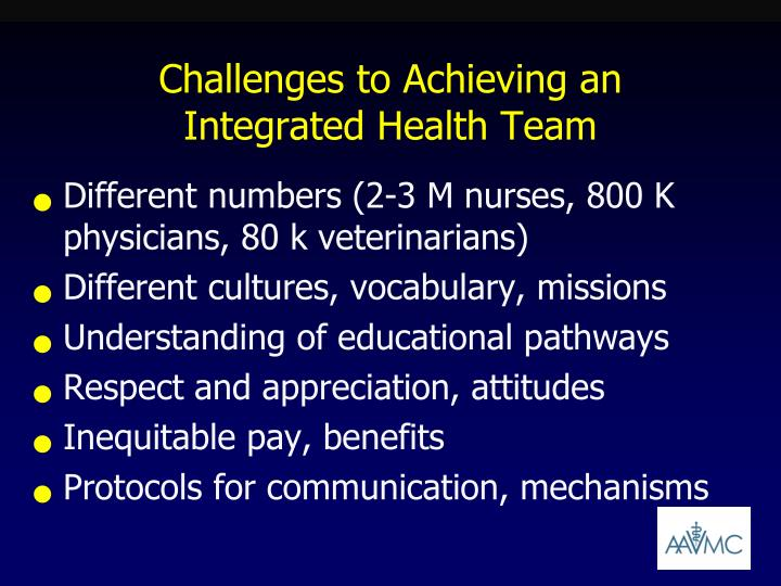 Challenges to Achieving an Integrated Health Team