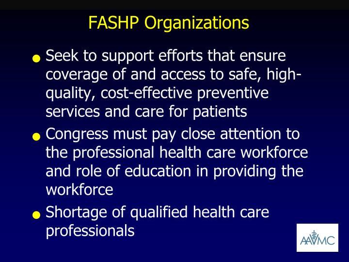 FASHP Organizations
