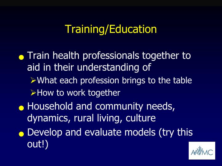 Training/Education
