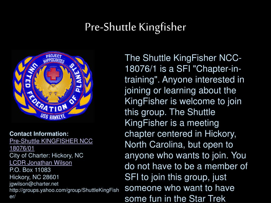 Pre-Shuttle Kingfisher