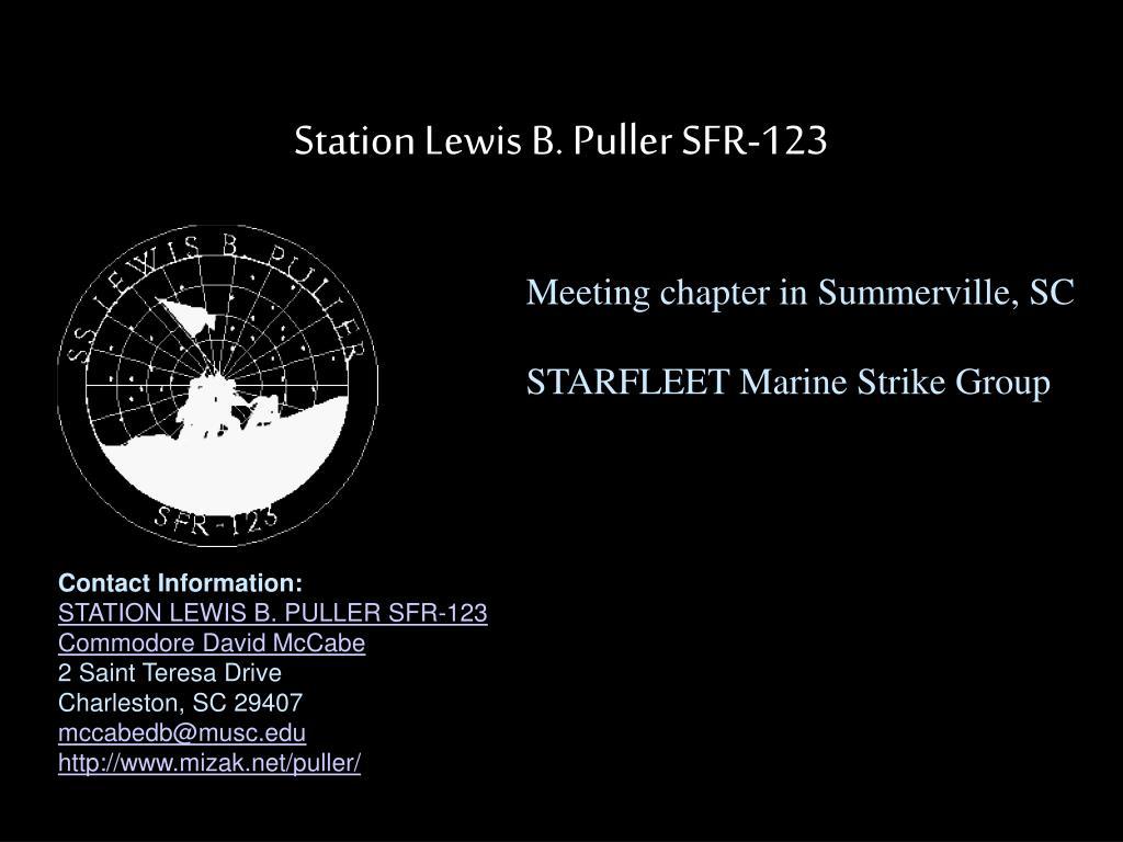 Station Lewis B. Puller SFR-123