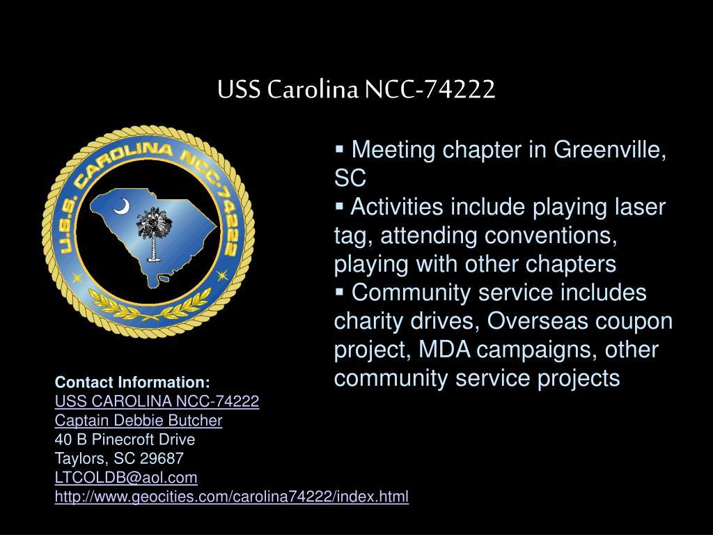 USS Carolina NCC-74222