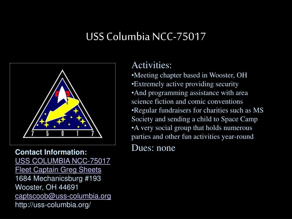 USS Columbia NCC-75017
