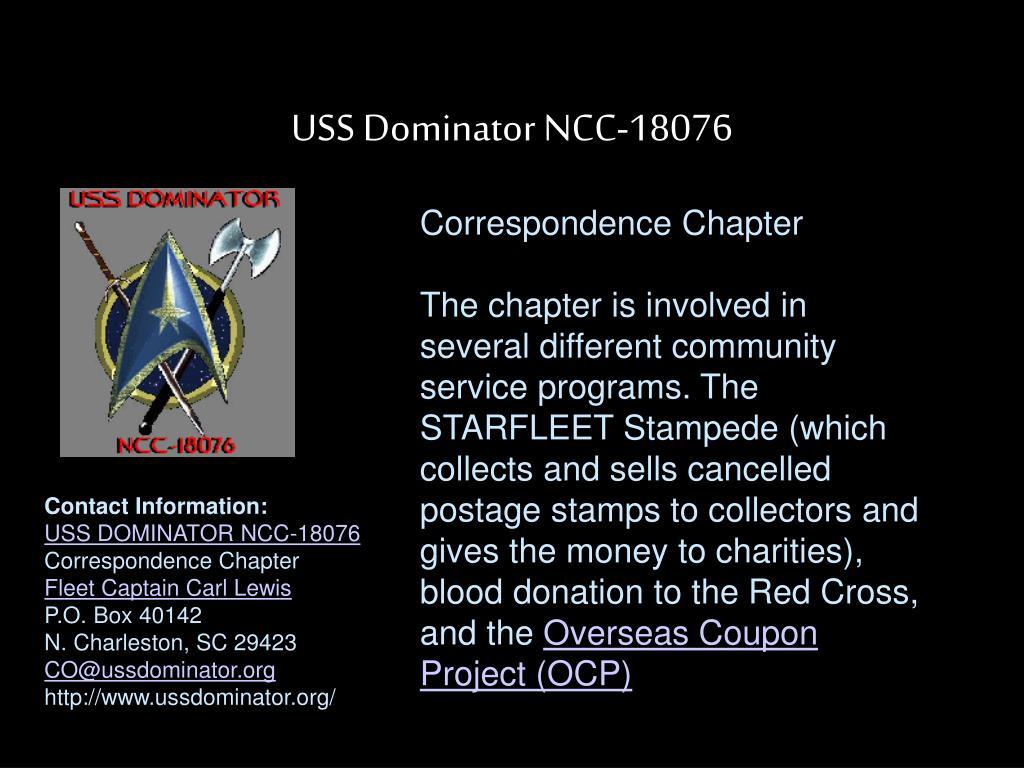 USS Dominator NCC-18076