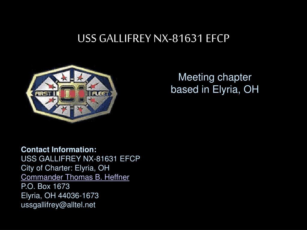 USS GALLIFREY NX-81631 EFCP