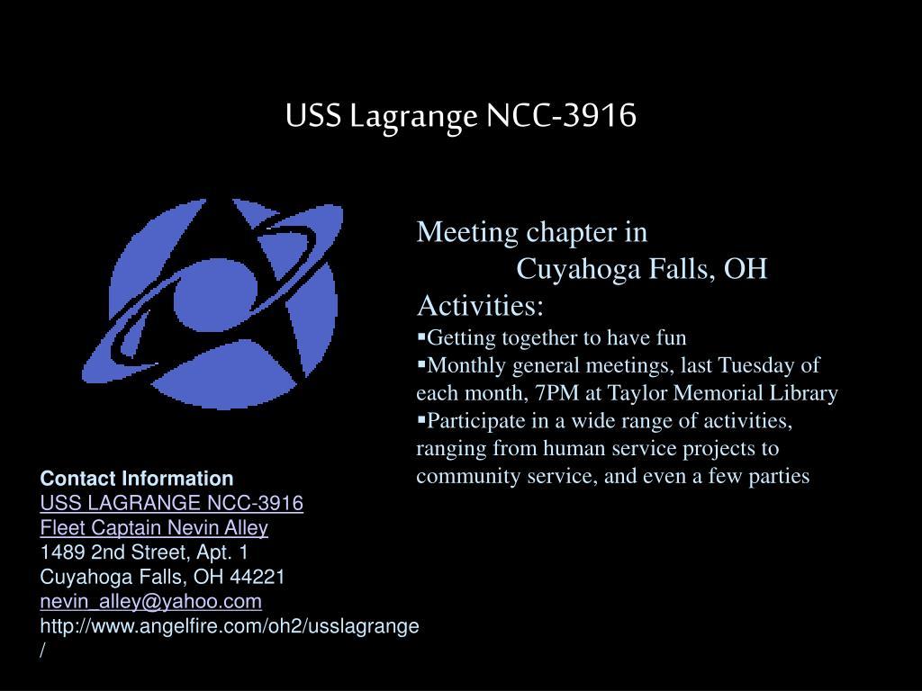USS Lagrange NCC-3916