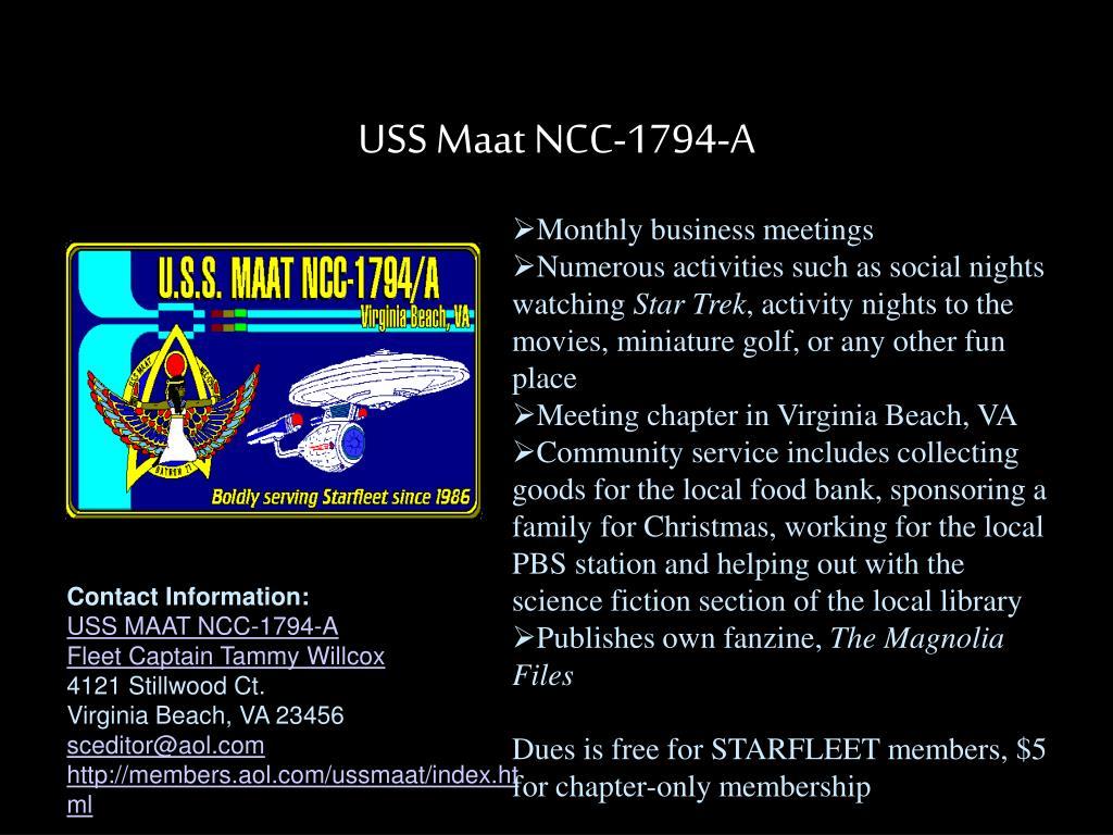 USS Maat NCC-1794-A