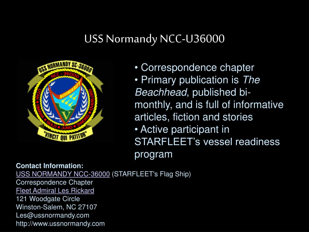 USS Normandy NCC-U36000