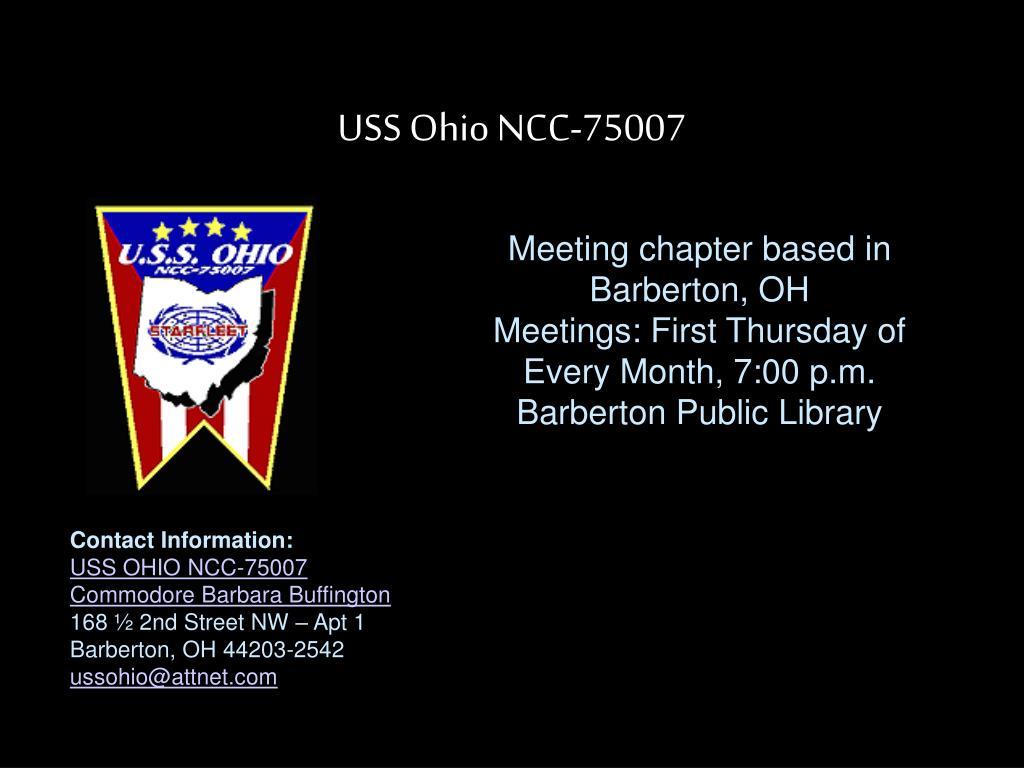 USS Ohio NCC-75007