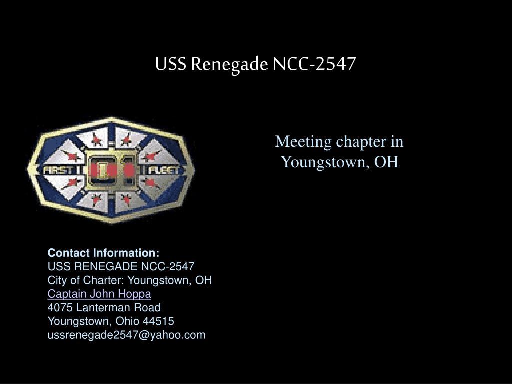 USS Renegade NCC-2547