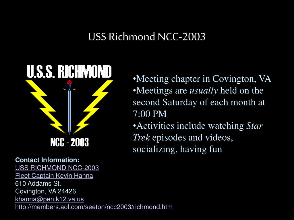 USS Richmond NCC-2003