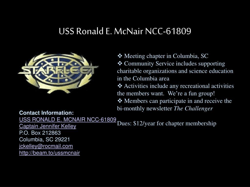 USS Ronald E. McNair NCC-61809