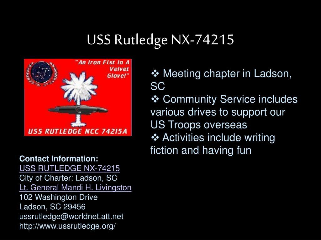 USS Rutledge NX-74215