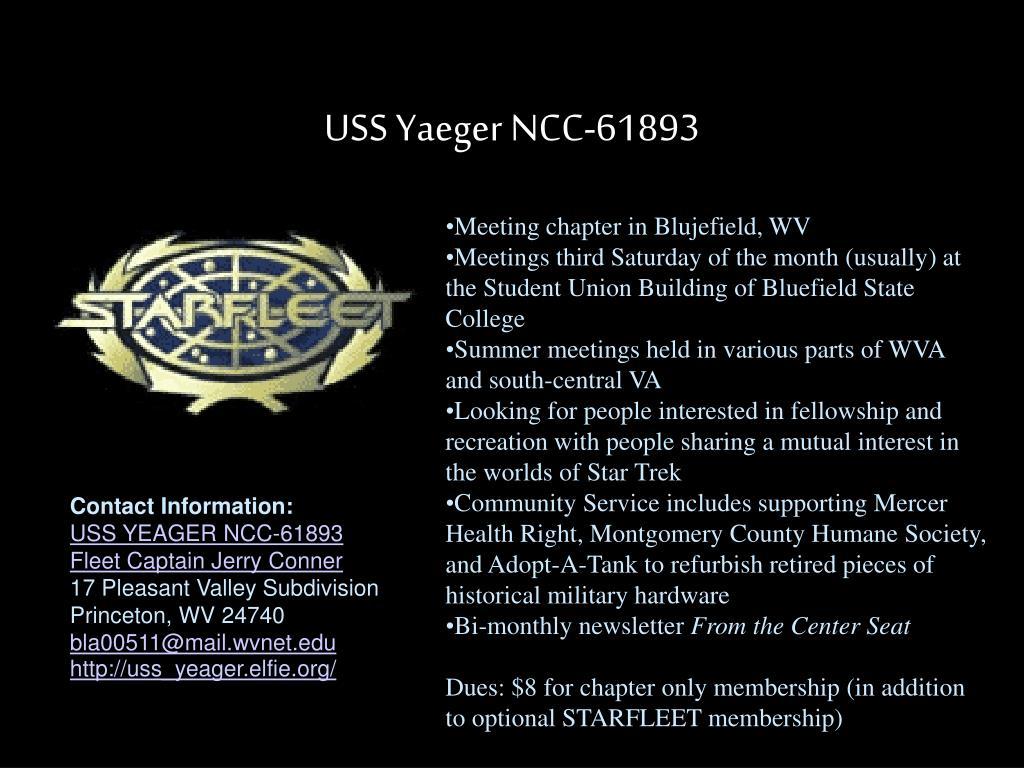 USS Yaeger NCC-61893