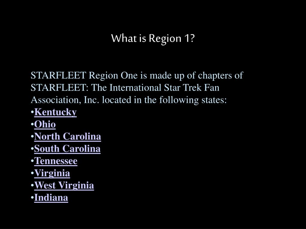 What is Region 1?