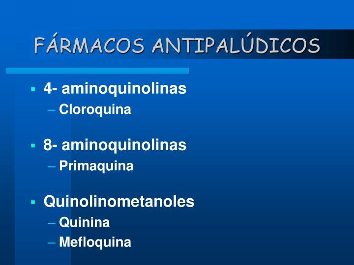 FÁRMACOS ANTIPALÚDICOS