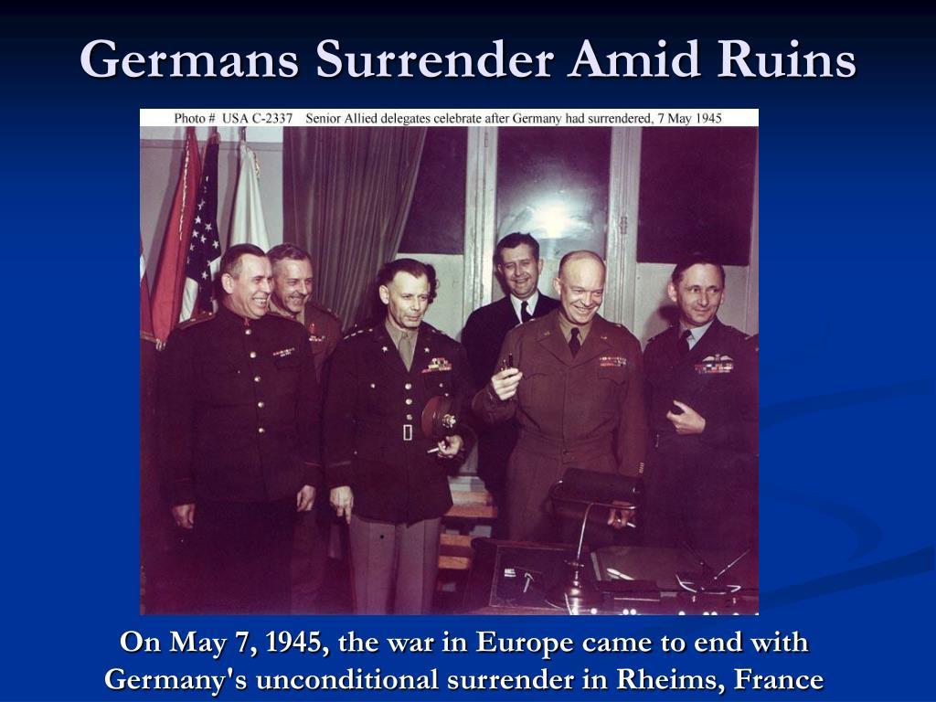 Germans Surrender Amid Ruins