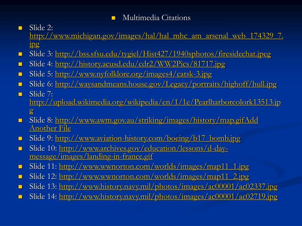 Multimedia Citations