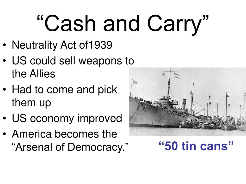 """Cash and Carry"""