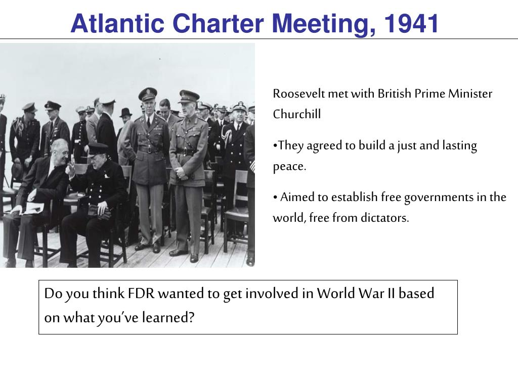 Atlantic Charter Meeting, 1941