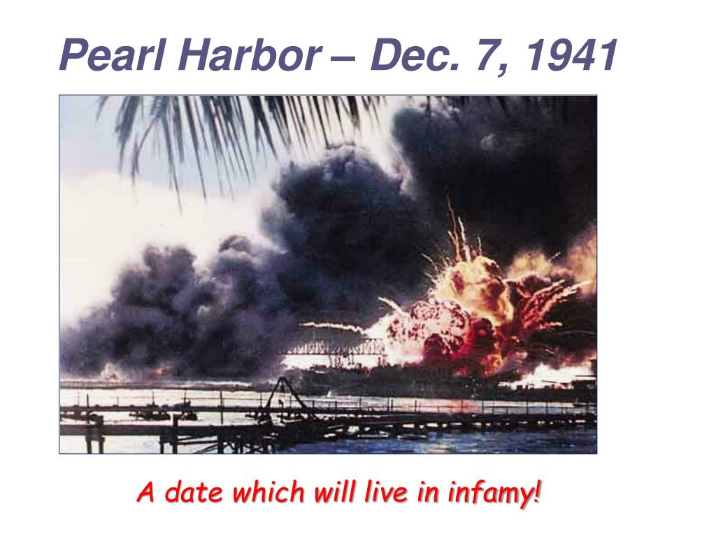 Pearl Harbor – Dec. 7, 1941