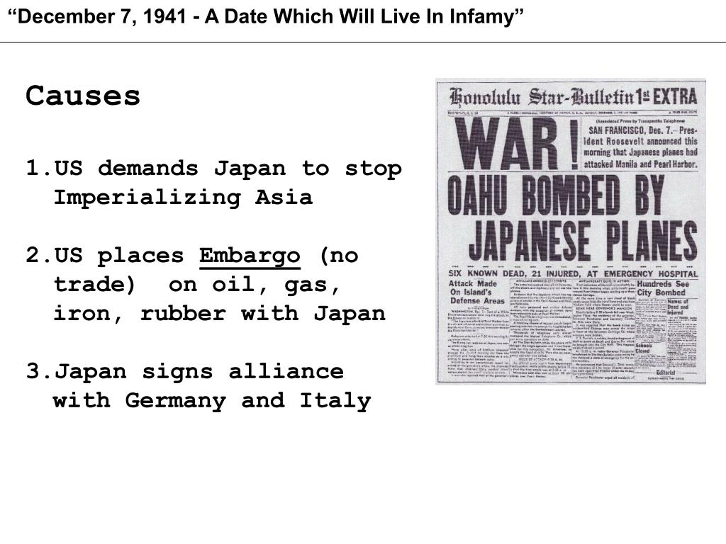 """December 7, 1941 - A Date Which Will Live In Infamy"""
