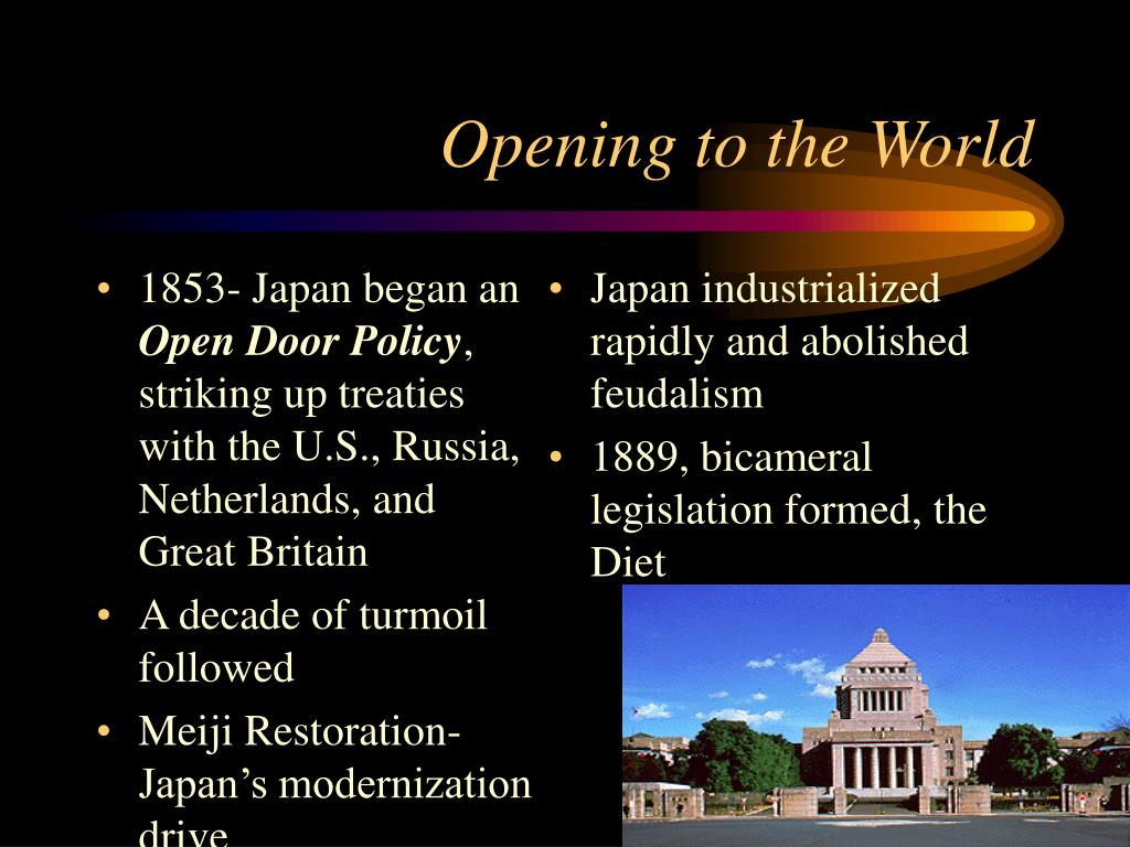 1853- Japan began an