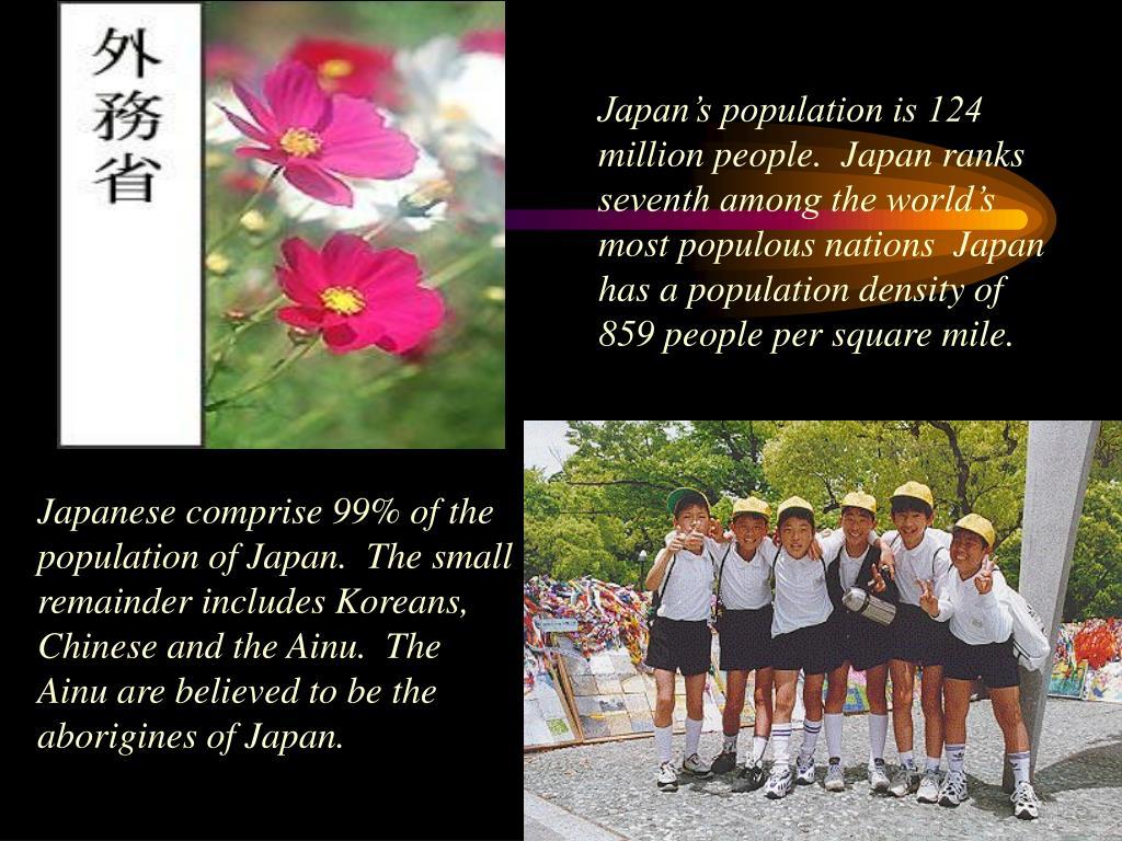 Japan's population is 124