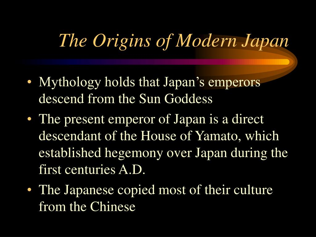 The Origins of Modern Japan