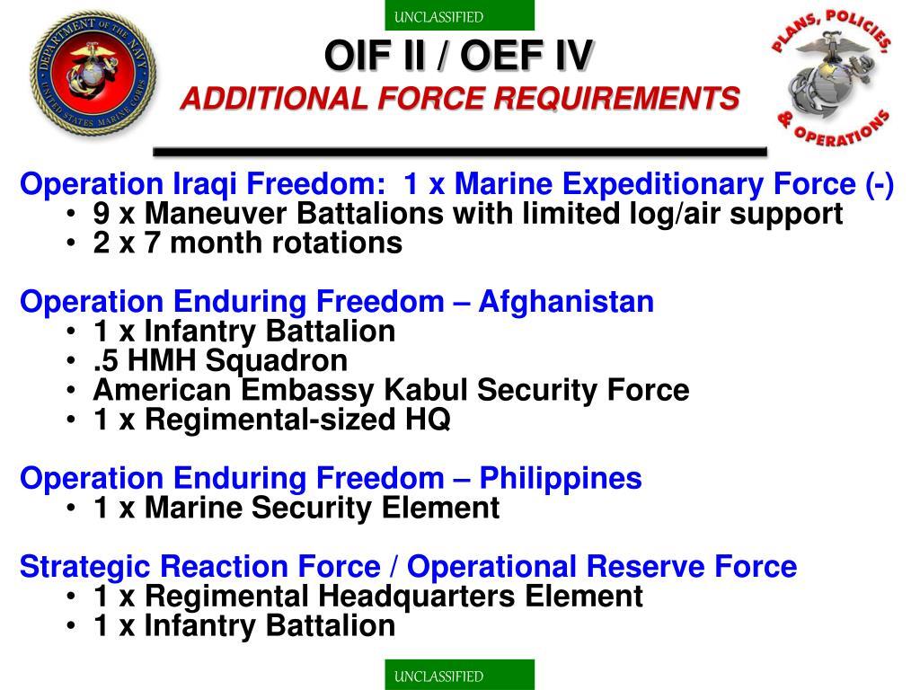 OIF II / OEF IV